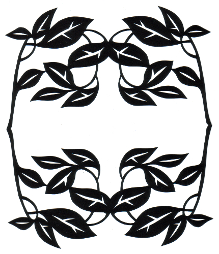 cut paper design Leaf and Twig Frame