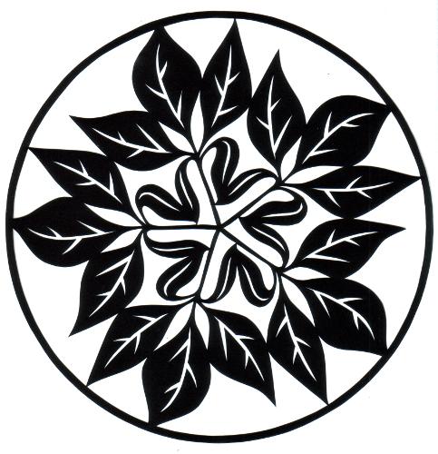 cut paper design Leaf Squiggle Star