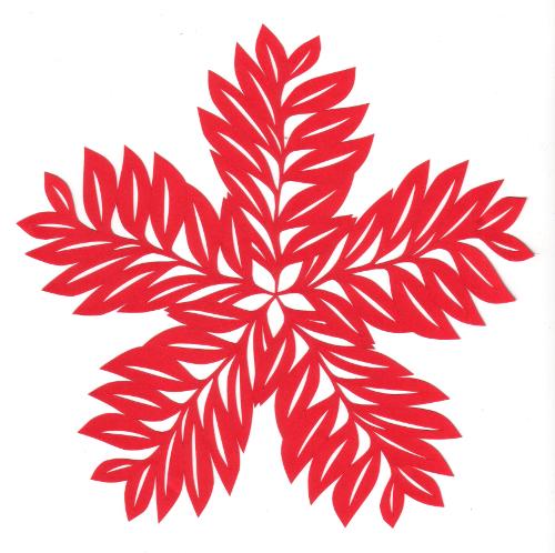 cut paper design Leaf Star
