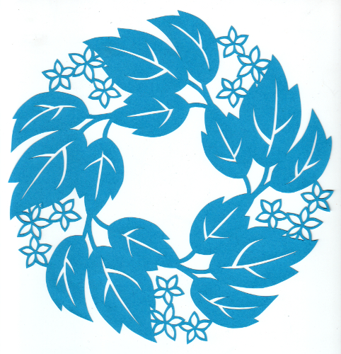 cut paper design Poison Ivy Blossom Circle