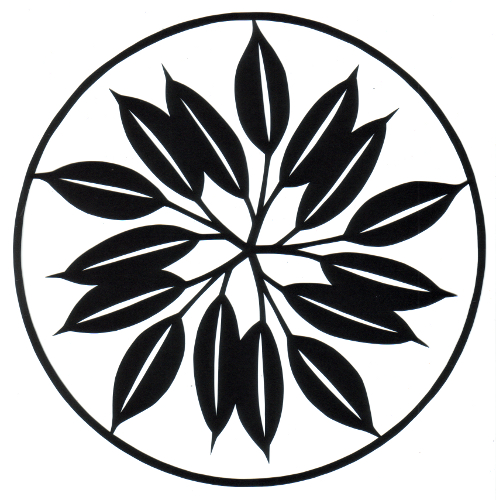cut paper design Simple Leaf Circle