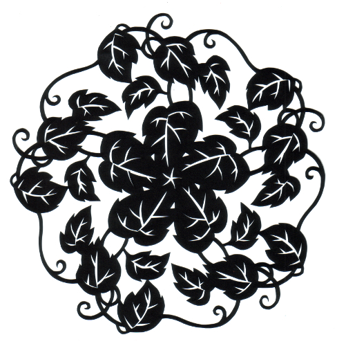 cut paper design Vine Circle
