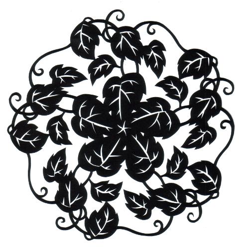 cut paper design Vine Circle