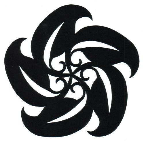 cut paper design Curly Leaves