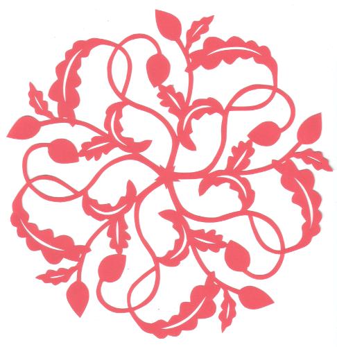 cut paper design Curly Stems