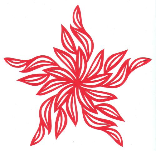 cut paper design Fire Star