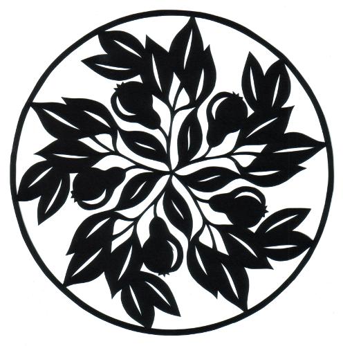 cut paper design Fruitful Circle