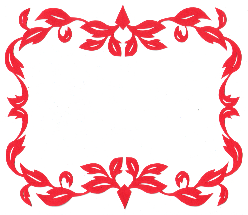 cut paper design Leafy Frame 3