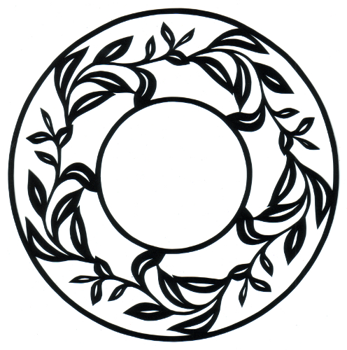 cut paper design Leafy Circle Frame