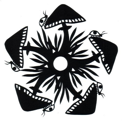 cut paper design Mushroom Circle