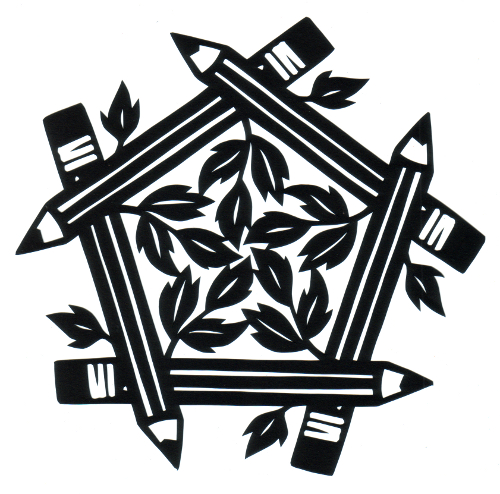 cut paper design Pencil Pentagon