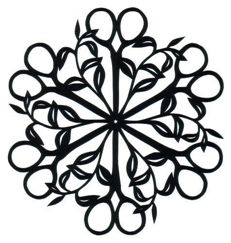 cut paper design Scissors Circle