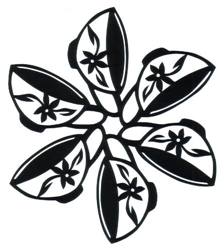 cut paper design Teacups