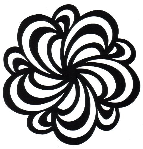 cut paper design Waveform Pentaskelion