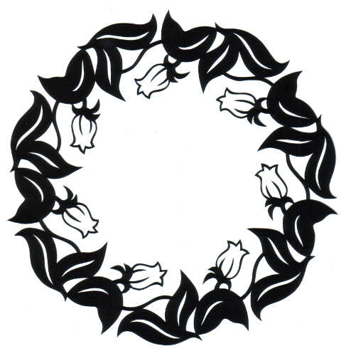 cut paper design Bud Circle