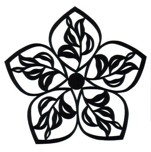 cut paper design Strange Flower