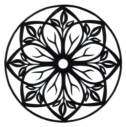 cut paper design Eightfold Rosette