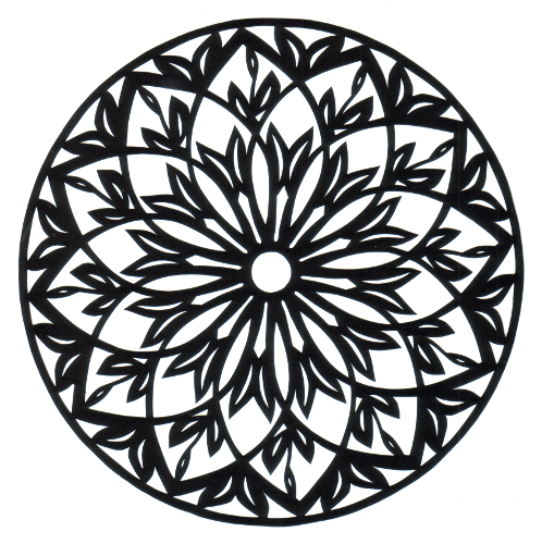 cut paper design Elaborate Rosette