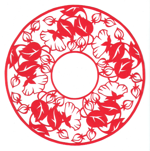 cut paper design Fancy Round Floral