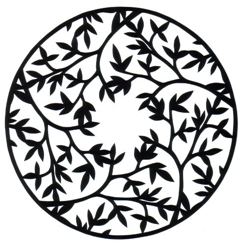 cut paper design Forest Circle