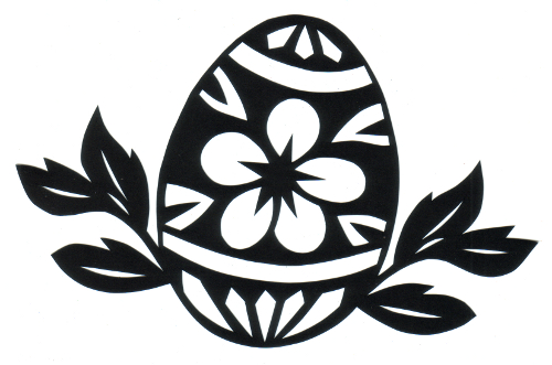 cut paper design Painted Egg