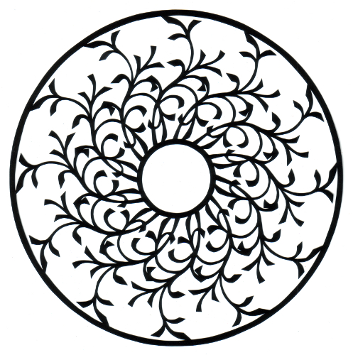 cut paper design Victorian Wheel