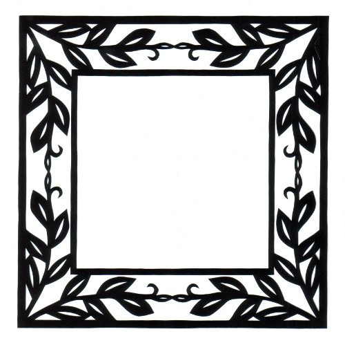 cut paper design Foliar Frame
