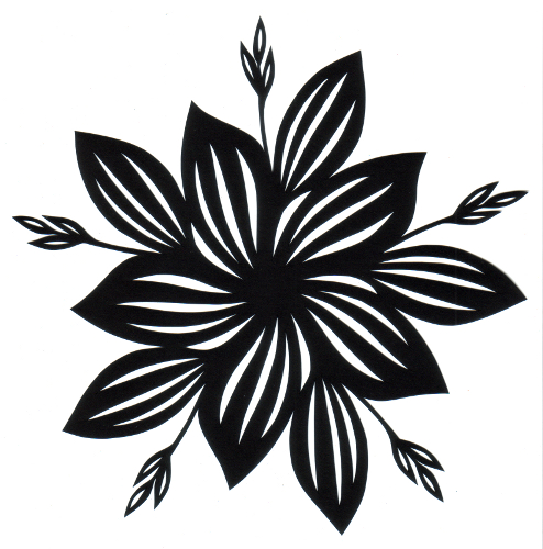 cut paper design Five-Fold Hosta Star