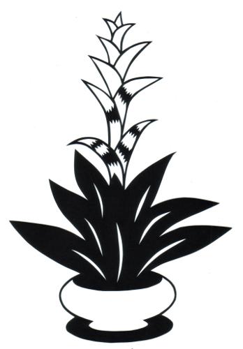 cut paper design Bromeliad