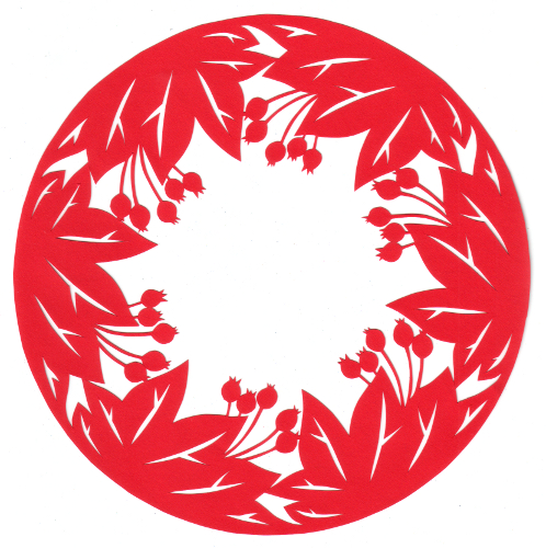 cut paper design Crabtree Circle