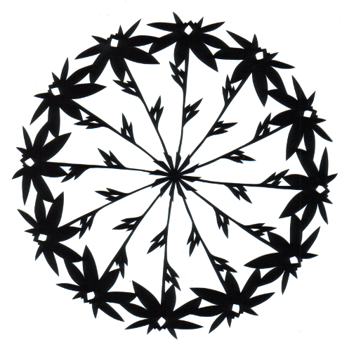 cut paper design Daisy Wheel