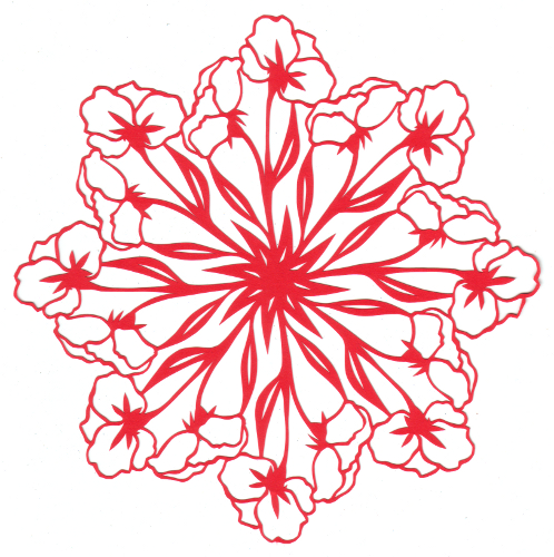 cut paper design Flower Lace