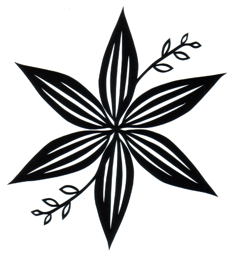 cut paper design Hosta Star