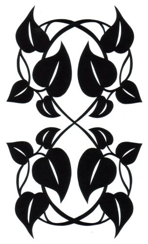 cut paper design Hourglass Hearts