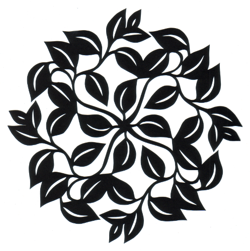cut paper design Leaf Circle