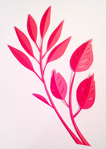 cut paper design Leaf Craft