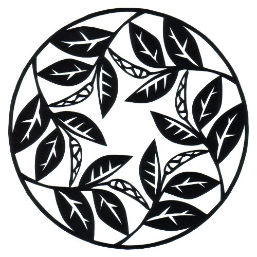 cut paper design Leaves and Pods