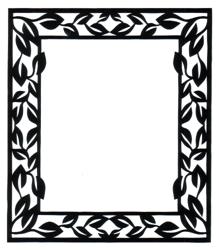 cut paper design Rectangle Frame