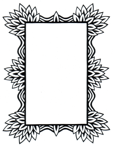 cut paper design Tribal Frame