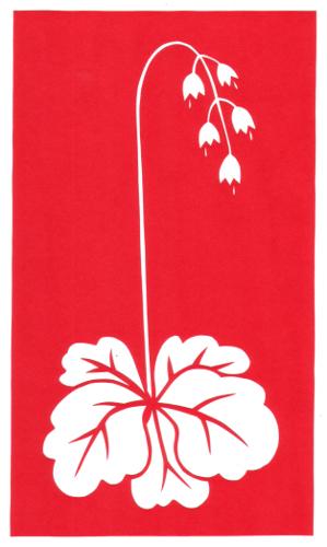 cut paper design Bell Flower Stencil