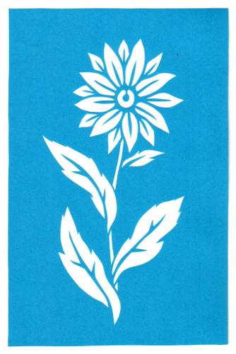 cut paper design Daisy Stencil