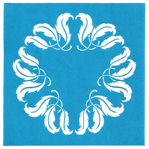 cut paper design Leafy Circle Stencil