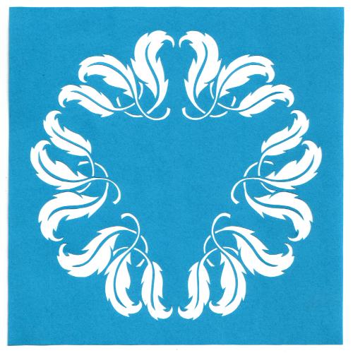 cut paper design Leafy Circle Stencil