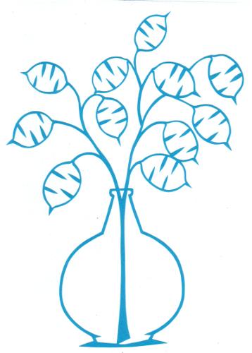 cut paper design Money Tree