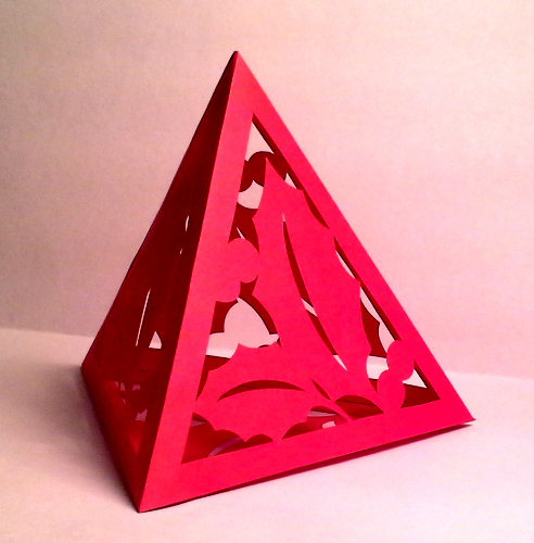 cut paper design Holly Tetrahedron