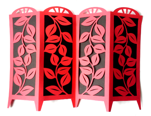 cut paper design Tiny Folding Screen