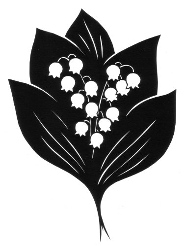 cut paper design Lily of the Valley