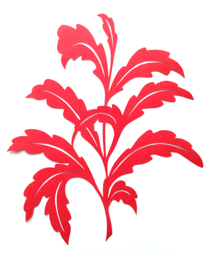 cut paper design Leafy Branch