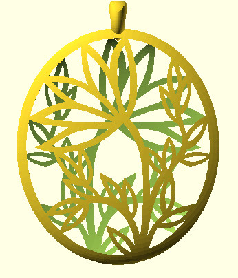 flower pendant design